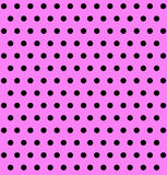 Pink Background with Black Polka Dots Stock Image