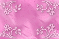 Pink background blur with flowers in the corners stock photo