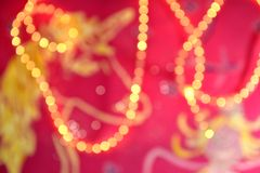Pink background bokeh Stock Images