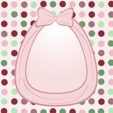 Pink background with bow Royalty Free Stock Photo