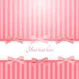 Pink background with bows Stock Photo
