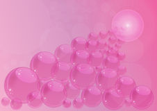 Pink background with bubbles Royalty Free Stock Photos