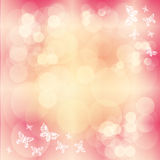 Pink background with butterfly Royalty Free Stock Photos
