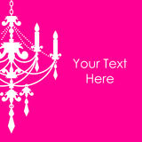 Pink background with chandelier Royalty Free Stock Image