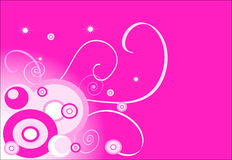 Pink background (circle). Design illustration: pink background (circle Stock Images