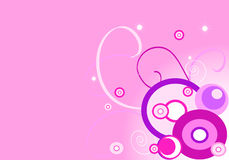 Pink background (circle). Design illustration: pink background (circle Royalty Free Stock Photo