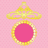 Pink background with crown Royalty Free Stock Image