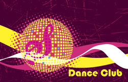 Pink background for dance club.Dance party Royalty Free Stock Images