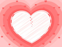 Pink background with decorative heart Royalty Free Stock Photos