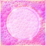 Pink Background Design of Round Form and Bright Colors Stock Photo