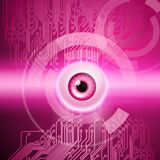 Pink background with eye and circuit. Abstract pink background with eye and circuit. EPS10 vector background vector illustration