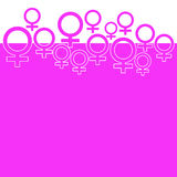 Pink Background With Female Symbol Royalty Free Stock Photos