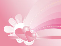 Pink background with flower illustration Royalty Free Stock Photo