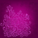 Pink background with flower Stock Photos