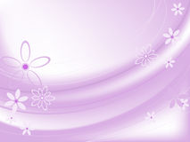 Pink background with flowers Royalty Free Stock Photo