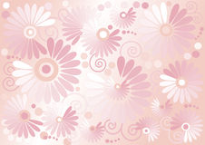 Pink background  with flowers  .Background. Wallpa Royalty Free Stock Image