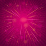 Pink background with flowers and hearts, vector Royalty Free Stock Photography