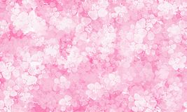Pink background with flowers pattern vector illustration