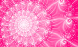 Pink Background, fractal49c. Bright Pink Fractal Background design Royalty Free Illustration