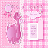 Pink background for girl Stock Photos