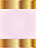 Pink background with gold Royalty Free Stock Image