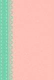 Pink background with green lace. Royalty Free Stock Images