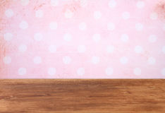 Pink background with grunge frame Royalty Free Stock Image