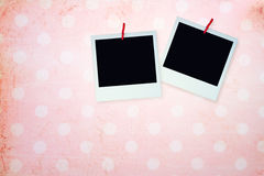 Pink background with grunge frame Royalty Free Stock Photography