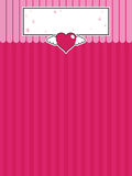 Pink background with heart Royalty Free Stock Photo