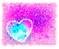 Pink background with heart. Bright colors Stock Illustration