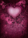 Pink background with a heart Stock Images