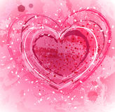 Pink background with heart Royalty Free Stock Photography