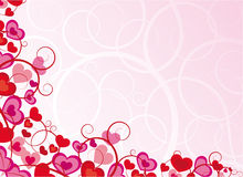 Pink background with heart. Ornate pink background with heart Royalty Free Stock Images
