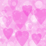 Pink background with hearts Stock Photos