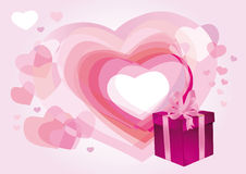 Pink background with hearts Royalty Free Stock Photos