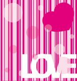 Pink background with hearts Royalty Free Stock Photo