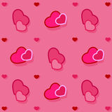 Pink background with hearts, wrapping Stock Photos