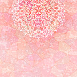 Pink background with lace Stock Photo