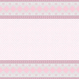 Pink background with lace frame Stock Photography