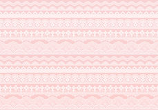 Pink background of lace trims. Royalty Free Stock Photo