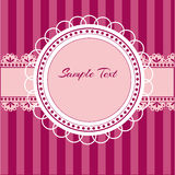 Pink background with lace Royalty Free Stock Images