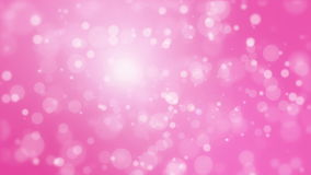 Pink background with light bokeh particles stock video
