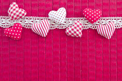 PInk background with little hearts Royalty Free Stock Photography
