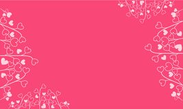 Pink background with love motifs background royalty free illustration