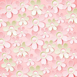 Pink  background with many flowers,  vector Royalty Free Stock Photos