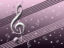Pink background music Royalty Free Stock Image