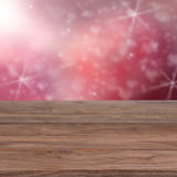 Pink background with old table Royalty Free Stock Image
