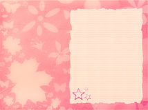 Pink background with paper Royalty Free Stock Image