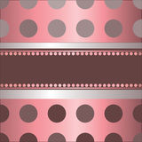 Pink background by polka dot stock illustration