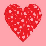 Red heart_Valentine`s Day. royalty free illustration